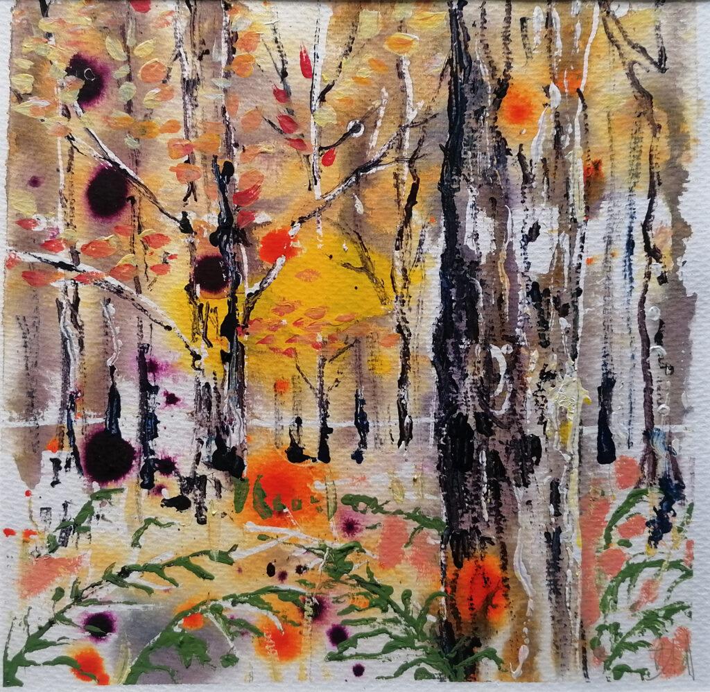 Autumn forest 26 x 26cm