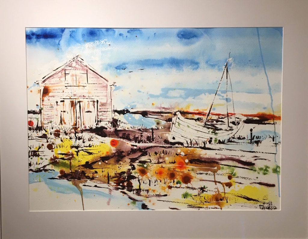Barn and boat 55 x 75 cm SOLD
