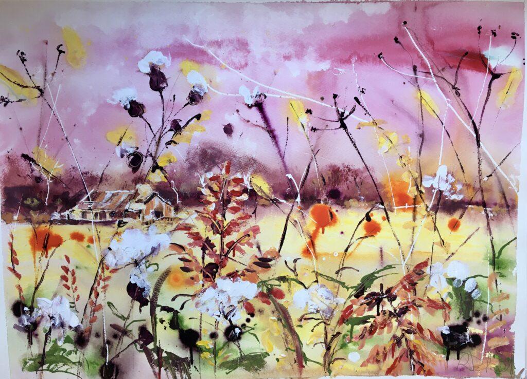 Whispers of autumn - 55cm x 75cm  unframed