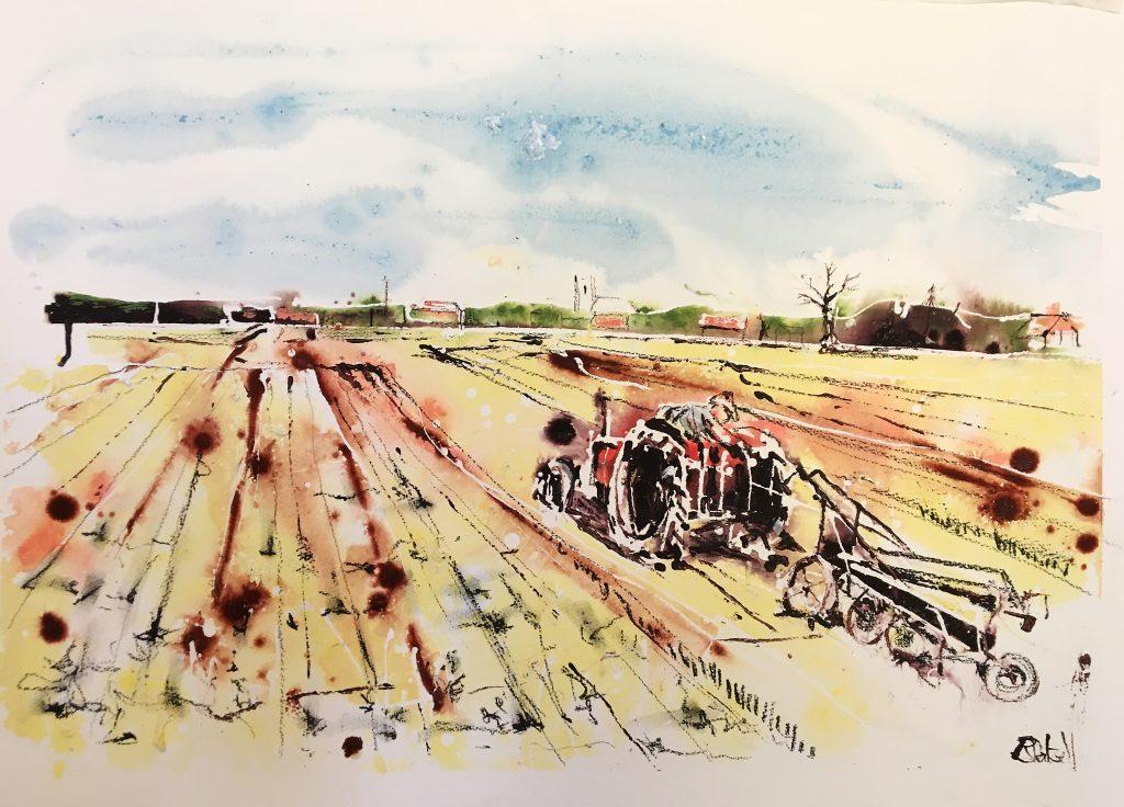 The Norfolk Farmer 55 x 75 cm unframed