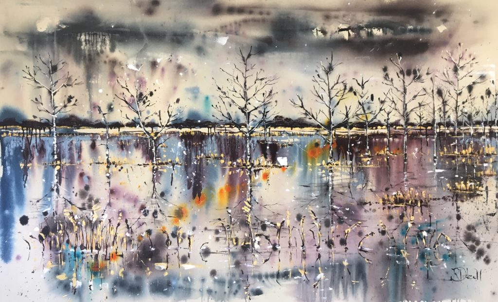 Dusk on the broads- 205cm x 125cm - SOLD