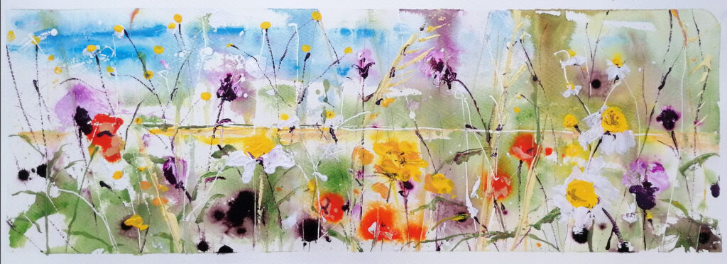 Daisies among thistles - SOLD