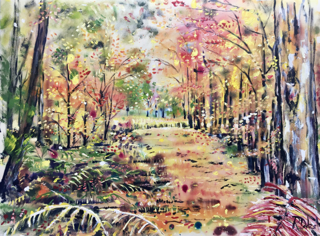 A tunnel of autumn colour   -  130 x 90cm - SOLD