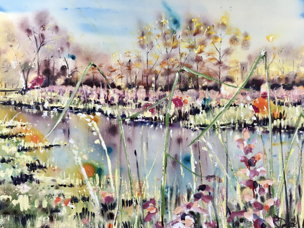 The stillness of the river 130 X 90 x 5cm - SOLD