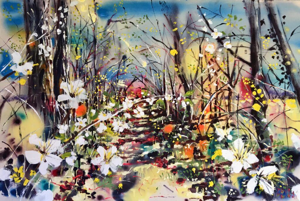 Springtime in the Hedgerow by Rachael Dalzell