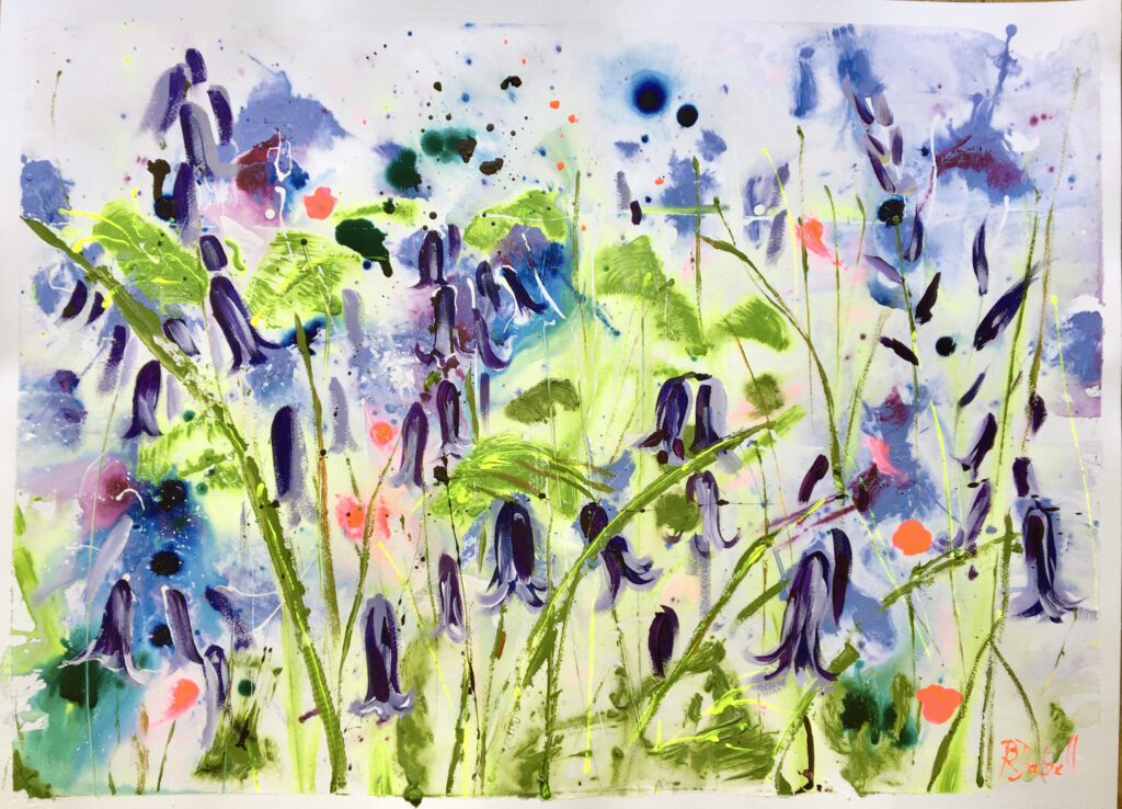 Bluebells Painting by Rachael Dalzell