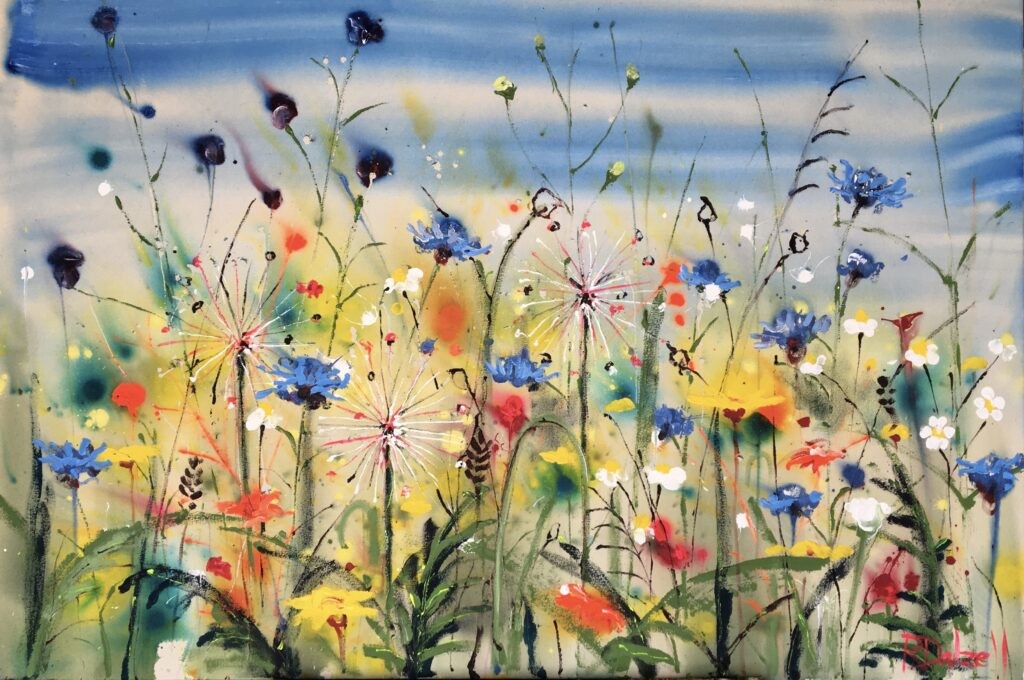 A walk through the wild flowers painting by Rachael Dalzell