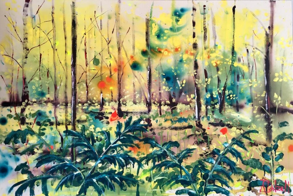 Lost in the woods painting by Rachael Dalzell